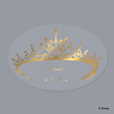 Printed Gold Tiara Seal