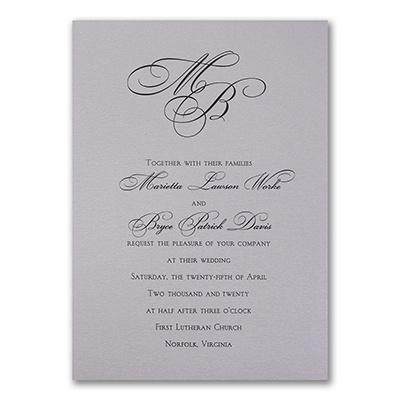 Silver Shimmer Tiffany - Invitation