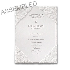 Sumptuous Silk and Lace Invitation