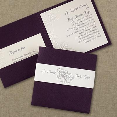 Raisin flourish invitation wedding invitations for Carlson craft invitations discount