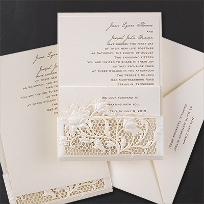 exquisite floral lace invitation wedding invitations