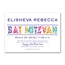 Marvelous Mosaic - Bat Mitzvah - Invitation