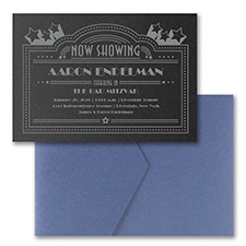 Now Showing - Pocket Invitation - Black Shimmer