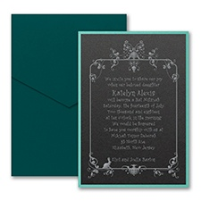 Very Important Date - Layered Pocket Invitation - Black Shimmer
