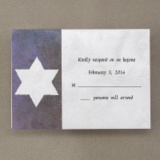 Large Star of David on Swirl Texture - Respond Card and Envelope