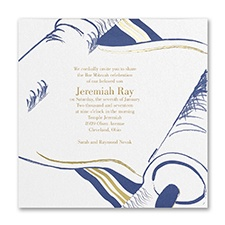 Bar Mitzvah Invitations and Bat Mitzvah Invitations at a 35 Discount