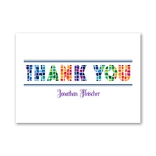 Marvelous Mosaic - Bar Mitzvah - Thank You Note