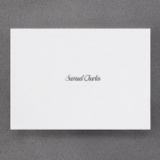 White Shimmer Note Card and Envelope
