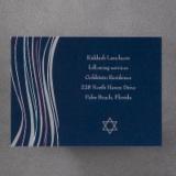 Navy Bar Mitzvah Shawl - Reception Card
