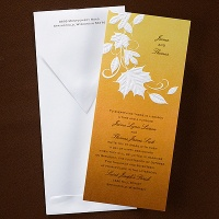 Autumn Tumble Invitation Wedding