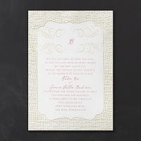 Burlap Border Invitation > Wedding Invitations Wedding