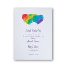 Rainbow Wrap Save the Date