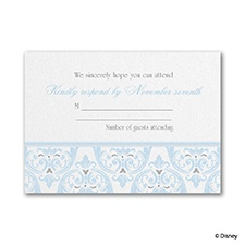 Happily Ever After - Cinderella Respond Card with Envelope