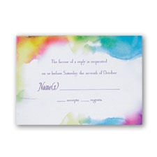 Rainbow Wrap Respond Card and Envelope