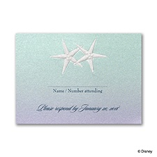 Mermaid Treasures - Ariel Respond Card with Envelope