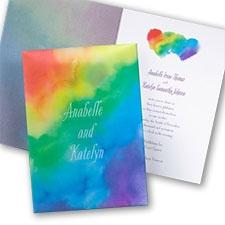 Rainbow Wrap Invitation