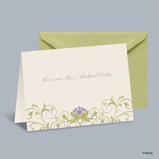 Water Lily - Tiana Note Card and Envelope