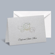 Fairy Tale Carriage Informal Note with Verse and Envelope