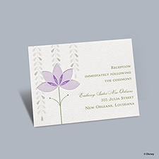 Deco Lilies - Tiana Reception Card
