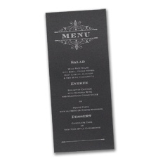 French Filigree - Menu Card - Black
