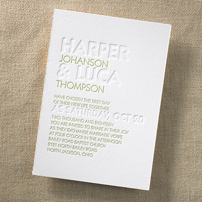 Brilliant day invitation wedding invitations carlson for Carlson craft invitations discount