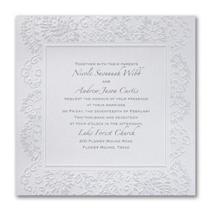 Wedding invitation wording brides parents inviting diamond events formal wedding invitation stopboris Images