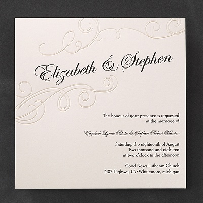 Exquisite poetry invitation wedding invitations for Carlson craft invitations discount