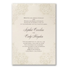 Lace Shimmers - Invitation