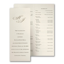 Crisp and Tall Wedding Program - Ecru