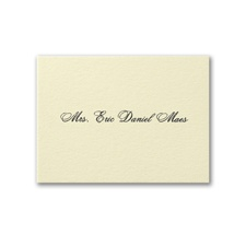 Mr. and Mrs. Calling Card