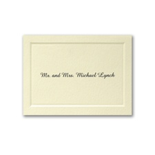 Mr. and Mrs. Paneled Calling Card