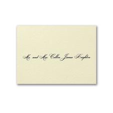 Recherché Ecru Card - Engraved Calling Card