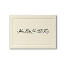 Mrs. Paneled Calling Card