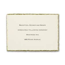 Deckled in Gold - Reception Card