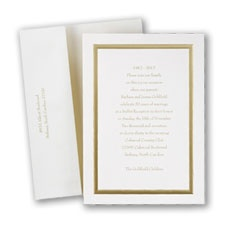 Gold on Ecru - Invitation