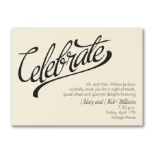 Celebrate Big - Party Invitation - Ecru