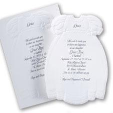 Precious Christening Gown - Invitation