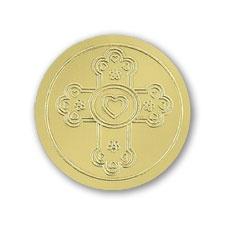 Cross - Seal - Gold