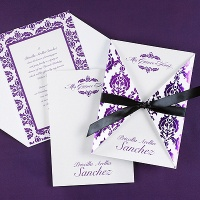 Damask Delight - Invitation