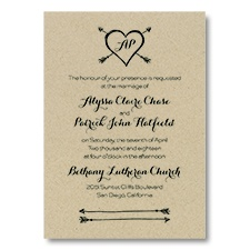 Tribute to Love - Classic Invitation - Kraft