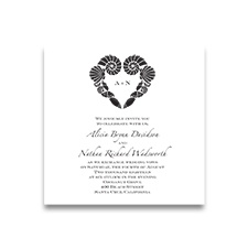 Seaside Silhouettes - Imperial Invitation - White