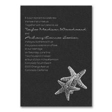 Seaside Duet - Invitation - Black Shimmer