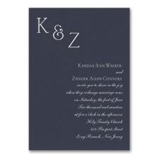 Sophistication - Invitation - Navy