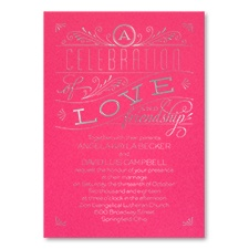 Grand Celebration - Classic Invitation - Fuchsia