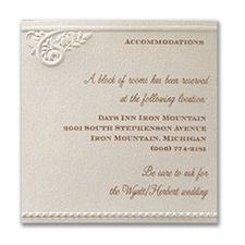 Vintage Pearls and Lace - Accommodation Card