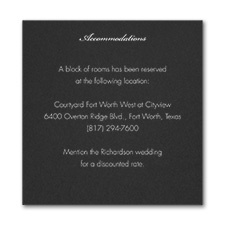 French Expressions - Accommodation Card - Black