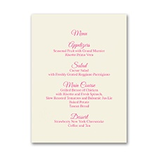 Menu Card - Vertical - Ecru