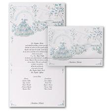 Magical Gardens - Invitation - Aqua