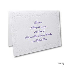 Cinderella's Carriage - Reception Card
