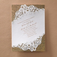 Rustic Battenburg Lace Invitation > Wedding Invitations Wedding